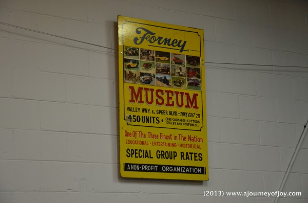 Forney Transportation Museum ~ field trip
